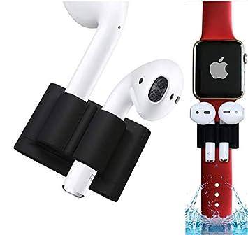 qualiquipment Airpods Silicona Soporte Clip de sujeción para Relojes, Airpods Accesorio Fijación para Apple inalámbrico Auriculares in-Ear: Amazon.es: ...