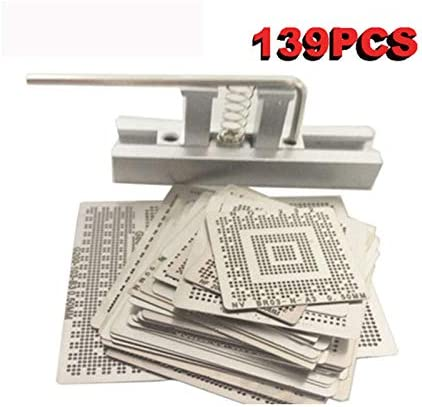Tool Parts for Laptop 139 pcs//set Bga Reballing Stencil Template Kit Color: Gold