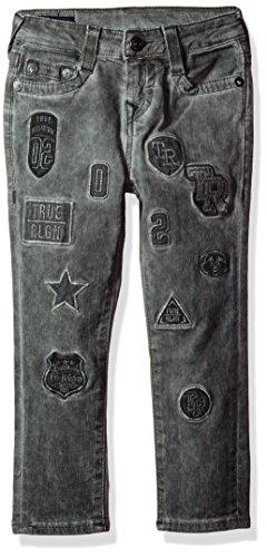 True Religion Big Boys' Rocco Jean, Grey Patched, 12 (Religion Jeans Boys True)