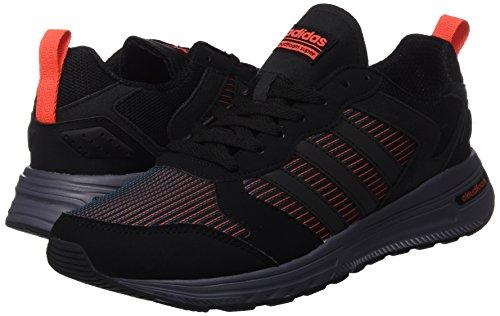 adidas CLOUDFOAM SUPER FLYER - Zapatillas deportivas para Hombre, Negro - (NEGBAS/NEGBAS/ROJSOL) 42 2/3