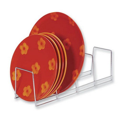 Better Houseware 4-Section Plate Rack, Large, Chrome