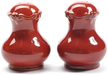 Gail Pittman Rich Red Salt and Pepper Shakers