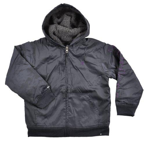 Hurley Big Boys Black Hooded Jacket