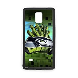 Fashion Design Seattle Seahawks Custom Case Cover for SamSung Galaxy Note4 (Laser Technology)