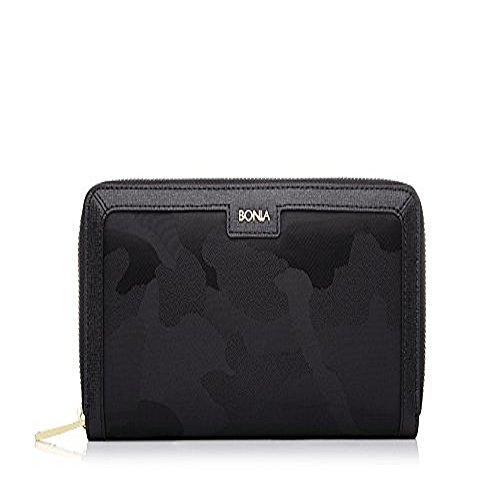 bonia-womans-black-alluring-zipper-wallet