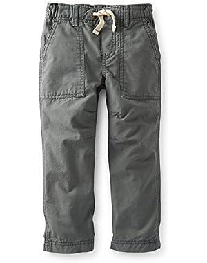 Carter's Baby Boys' Woven Ripstop Pants - Grey