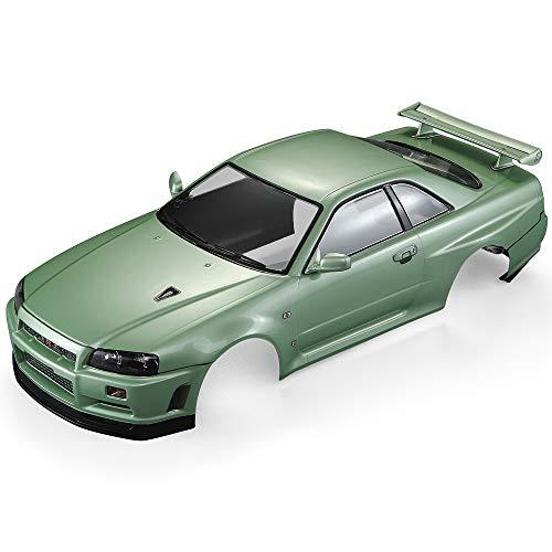 R34 Skyline Body Nissan Gtr - Goolsky Killerbody 48646 Nissan Skyline (R34) Finished Body Shell Frame for 1/10 Electric Touring RC Racing Car DIY (Green)