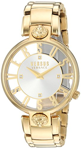 Versus by Versace Women's 'KRISTENHOF' Quartz Tone and Gold Plated Watch(Model: VSP490618)