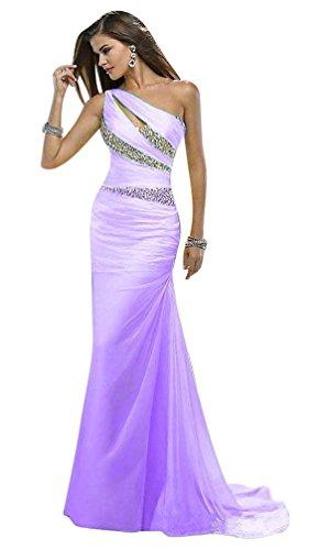 Hellviolett Beauty Eine Emily Damen Kleid Schulter rWW8XHvT