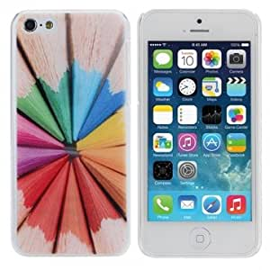 Colorful Watercolor Pencil Hard Protective Back Case For iPhone 5C