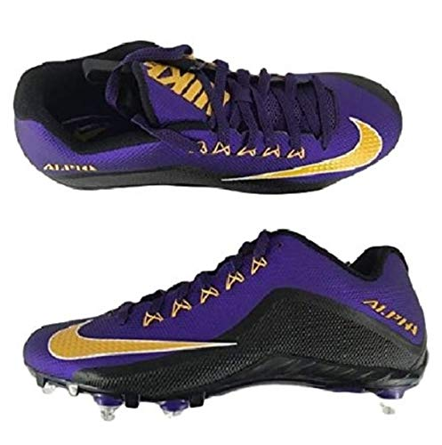 a412fde2f547 Nike Men's Alpha Pro 2 Football Cleat (11.5 D(M) US, Court Purple ...