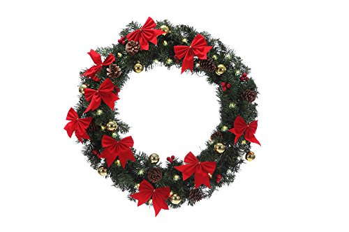Lighted outdoor wreaths for christmas for Led wreath outdoor