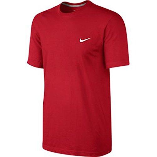 Nike Men's Classic Embroidered Swoosh T-Shirt-Red-Medium (T-shirt Mens Swoosh)