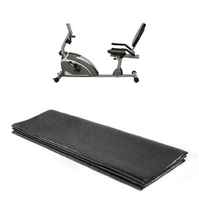 Exerpeutic 900XL Extended Capacity Recumbent Bike and Stamina Equipment Mat Bundle