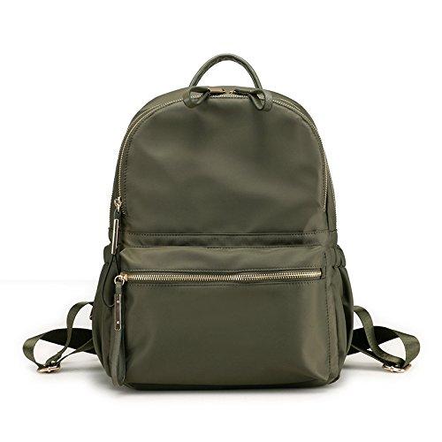 Hope Bolsa De Escuela Mochila Ligera De Nylon Casual para Niñas Adolescentes,Red-27 * 15 * 34cm Green
