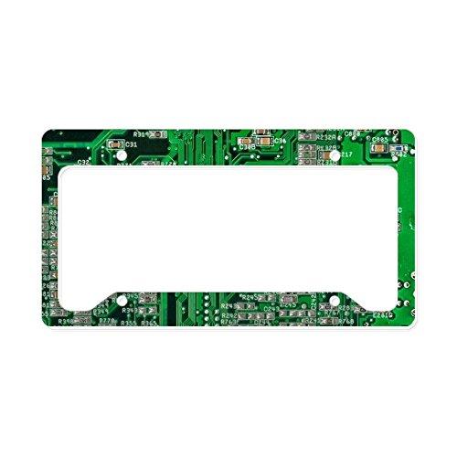 CafePress Circuit Board Aluminum License Plate Frame, License Tag Holder ()