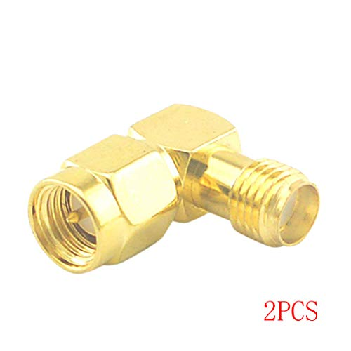 Teflon Insulator (1/2/4/6 Pcs SMA Male to Female Right Angle 90-Degree Adapter Gold Plated Contacts Connector)