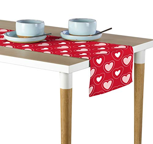 Milliken Hearts in Stitches Red Table Runner Assorted Sizes (12