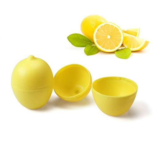2PCS Fresh Lemon Lime Keeper Storage Container Holder Saver Clean,Citrus Wedge Keeper, Citrus Saver, Lemon Lime Saver, Citrus Container ()