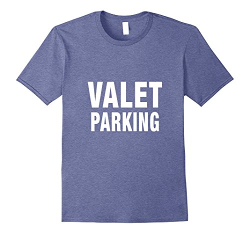 Party Valet - Mens Valet Parking T-Shirt Car Park Attendants Private Party Tee Medium Heather Blue