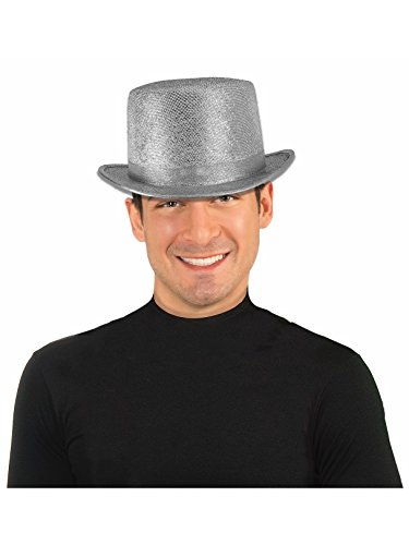 Forum Novelties Men's Adult Glitter Mesh Costume Hat, Silver, One Size]()