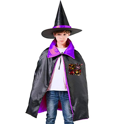 Halloween Props Set Five-Nights-at-Freddy Halloween Costumes Witch Wizard Cloak Cape with Hat for Girls Boys ()