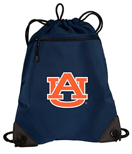 Broad Bay Auburn University Drawstring Backpack Auburn Cinch Bag - Unique MESH & Microfiber