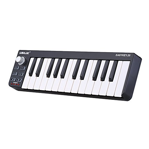 ammoon Worlde Easykey 25 Portable Keyboard Mini 25-Key USB MIDI Controller by ammoon