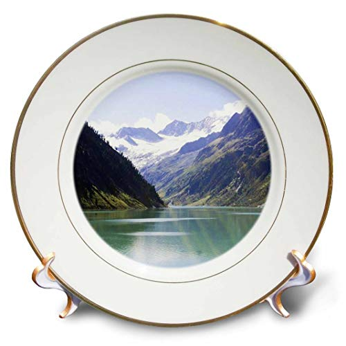 3dRose cp_43739_1 Lake N Mountains in Colorado Porcelain Plate, 8""