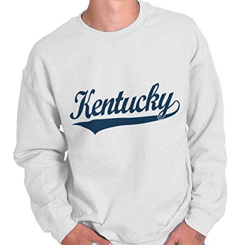 Kentucky White Sweatshirt - Kentucky Athletic Sports College Workout KY Crewneck Sweatshirt White