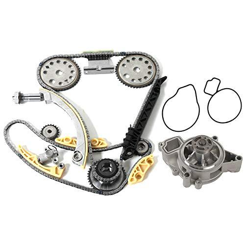 MOCA Timing Chain Kit Water Pump for 2000-2011 Chevrolet Cobalt HHR & Pontiac G5 & Saturn Sky Aura Vue 2.2L 2.4L L4 DOHC F B