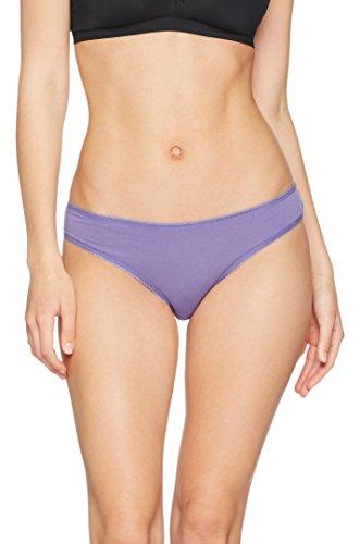 Iris & Lilly Women's Cotton Bikini,  Pack of 5,  Navy Sky/Veronica, S (US 4-6)