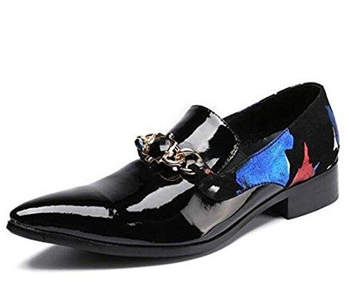 Slip nbsp;formal Zapatos Vistoso Nanxie Negocio A Y Occidental on De Patentar Tamaño 45 Hombre Eu38 Mocasines Puntiagudo Cuero Boda nbsp;vestir 38 8qpx71wq