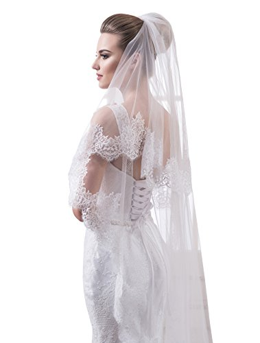 "Bridal Veil Sophie from NYC Bride collection (chapel 72"", white) by NYC Bride"