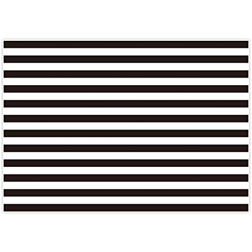 Black And White Party Decorations (Allenjoy 7x5ft Fabric Photography backdrops Christmas Geometric Black and White Stripe Zebra Crossing line Banner Birthday Party Wedding Decoration Photo Studio Booth Newborn Baby Shower)