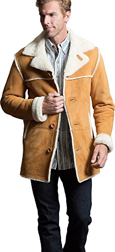 El Dorado Shearling Sheepskin Coat, SUEDE