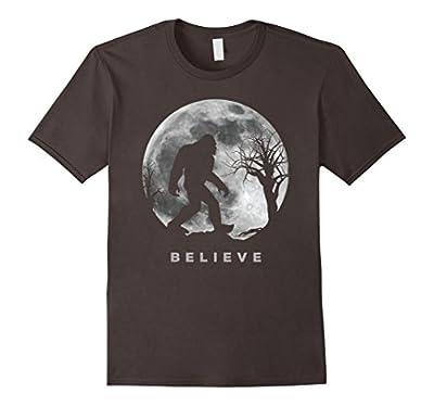 Bigfoot T-shirt Bigfoot Sasquatch Full moon Yeti Funny Shirt
