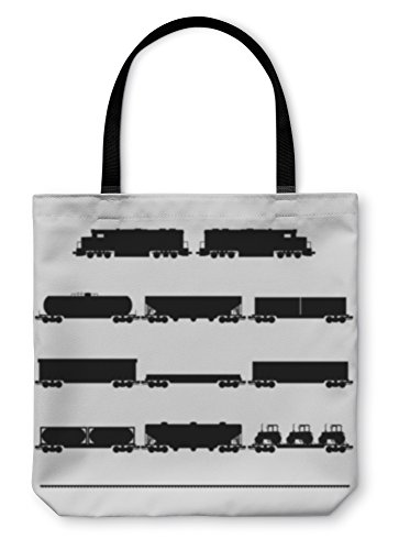 Gear New Shoulder Tote Hand Bag, Wagons And Locomotives, 13x13, 6031798GN ()
