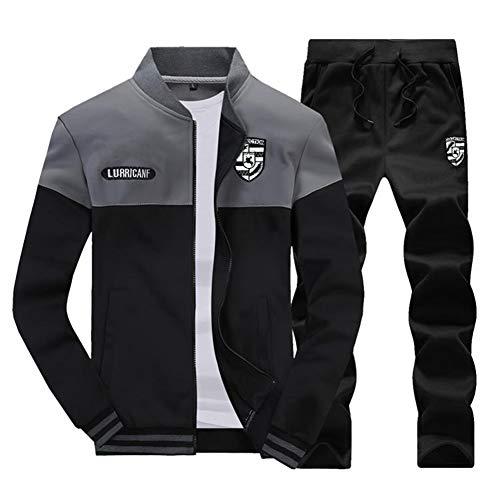 Sweat Pièces Gris Survêtements Homme Veste Pantalons Jogging 2 Blouson shirt dqqXA6x