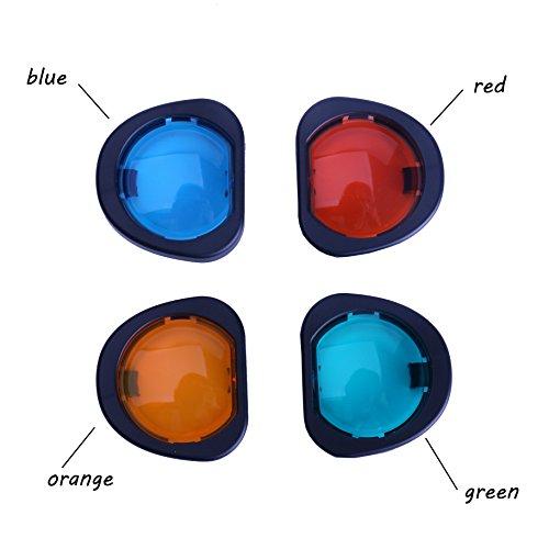 Price comparison product image Woodmin Fujifilm Instax Mini Color close up lens filter for Fuji Instant Mini 90 Camera(Orange / Blue / Red / Green)