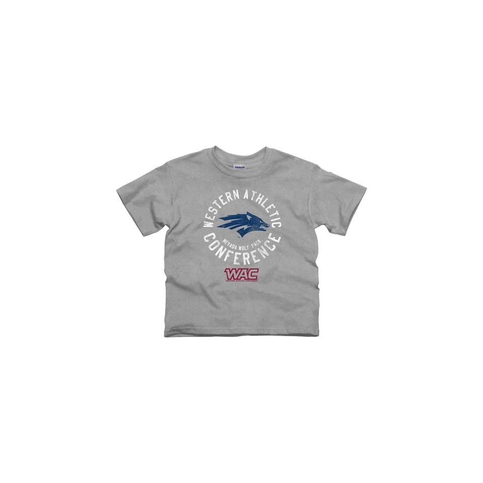 Nevada Wolf Pack Youth Conference Stamp T Shirt   Ash