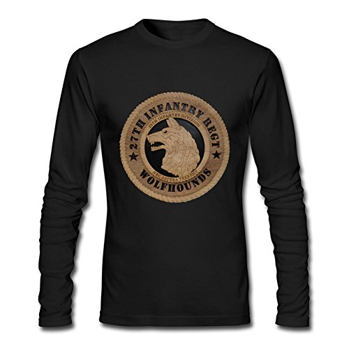 Ptshirt.com-19413-DHKPG Men\'s 27th Infantry Regiment Wolfhounds O Neck T Shirts-B01BBUWW44-T Shirt Design