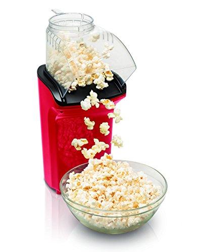 Hamilton Beach 73400 Hot Air Popcorn Popper, Red (Renewed)