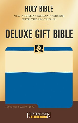 Holy Bible With the Apocrypha: New Revised Standard Version, Cream on Blue, Deluxe Gift (Hendrickson Bibles)