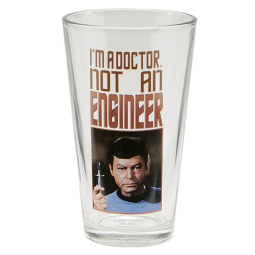 Vandor 80779 Star Trek 4 pc 16 oz Glass Set, Multicolor