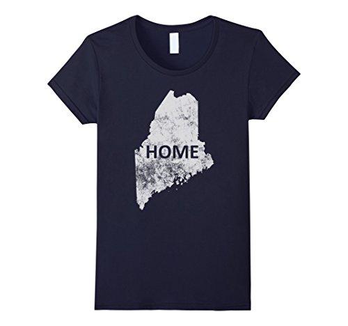 Womens Home   Maine T Shirt Medium Navy
