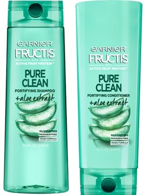 Garnier Fructis Pure Clean Fortifying Shampoo & Conditioner Set, 12.5 fl oz and 12 fl oz (Set Contains 2 Items)