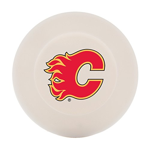 Franklin Sports Calgary Flames Street Hockey Puck - Molded PVC Team Logo Puck for Smooth Surfaces - NHL Official Licensed Product