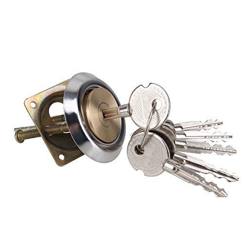 Yibuy Polished Brass Replacement Rim Cylinder Door Lock Nightlatch Latch Dead Bolt