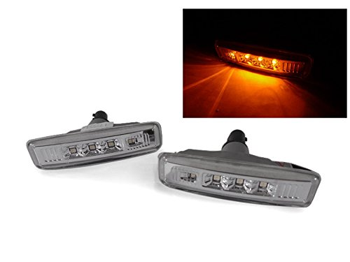 DEPO 1997-2003 BMW E39 528 530 540 M5 CLEAR AMBER LED FENDER SIDE MARKER LIGHTS